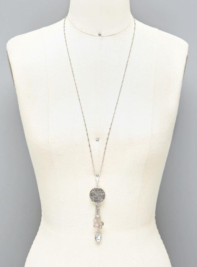 Carol Dauplaise Pendant & Bead Long Necklace