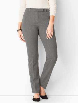 Talbots Bi-Stretch High-Waist Straight-Leg Pant - Curvy Fit/Charcoal