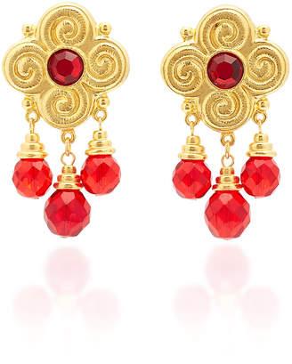 Ben-Amun Ben Amun Gold-Plated Brass Crystal Earrings