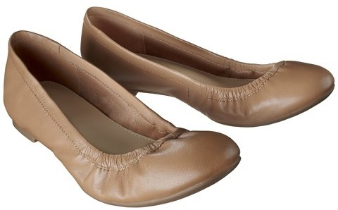 Merona Women's Emma Genuine Leather Scrunch Flats