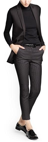 MANGO Pinstripe suit vest