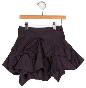 AllSaints Girls' Draped A-Line Skirt