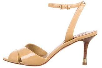 Tory Burch Patent Leather Ankle Strap Sandals
