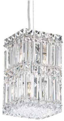 Schonbek Quantum 4-Light Pendant in Stainless Steel With Clear Spectra Crystal