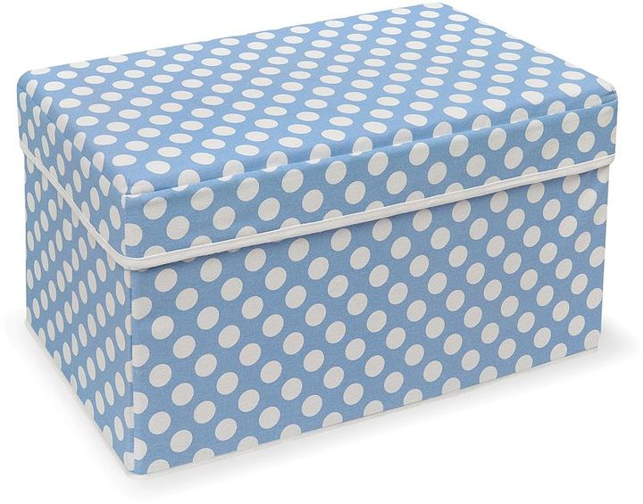 Badger Basket double folding storage seat - blue