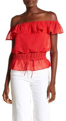 Lovers + Friends Parker Off-the-Shoulder Ruffle Blouse