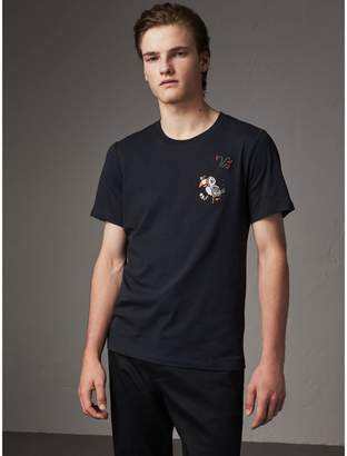 Burberry Sketch Appliqué Cotton T-shirt