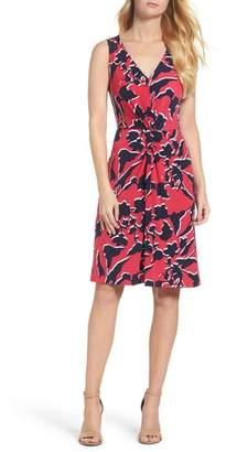 Leota Twist Front Jersey Sheath Dress