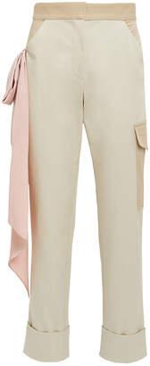 Hellessy Beaton Pink Satin Scarf Cargo Pants