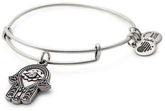 Alex and Ani Swarovski Crystal Silverplated Hand of Fatima Charm Expandable Bracelet