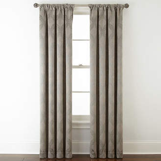 Royal Velvet Allure Room-Darkening Rod-Pocket/Back-Tab Curtain Panel
