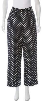 Trademark High-Rise Polk Dot Pants