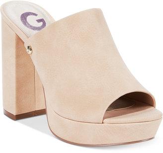G by Guess Blayke Platform Slide Sandals Women's Shoes $79 thestylecure.com