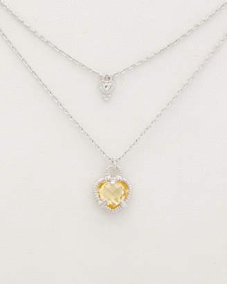 Judith Ripka La Petite Silver 0.03 Ct. Tw. Gemstone Double Strand Necklace