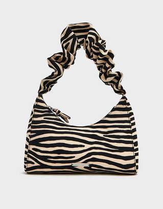 Loeffler Randall Aurora Scrunchie Strap Shoulder Bag in Zebra