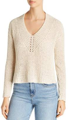 Eileen Fisher Cropped V-Neck Sweater