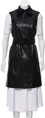 Michael Kors Embossed Leather Vest