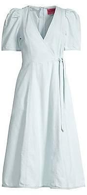 Kate Spade Women's Denim Midi Wrap Dress