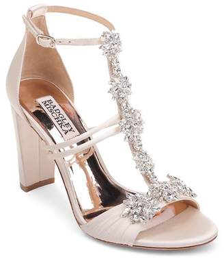Badgley Mischka Women's Laney Embellished T-Strap Sandals