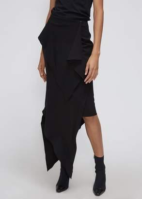 Awake Asymmetric Draped Skirt