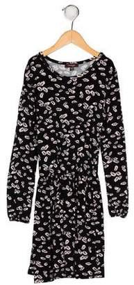 Imoga Girls' Printed Long Sleeve Dress