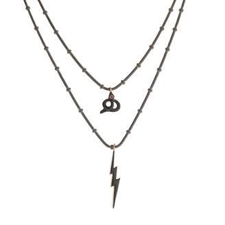Ileana Makri Black Silver Necklace