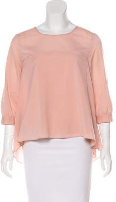 French Connection Long Sleeve Crew Neck Blouse