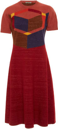 Bottega Veneta Color-Block A-Line Knit Dress
