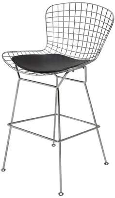 Nuevoliving Wire Back Stool, Black