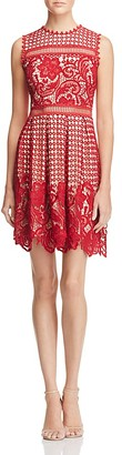 AQUA Mixed Lace Dress - 100% Exclusive $98 thestylecure.com