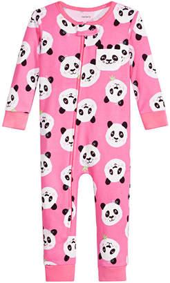 Carter's Carter Baby Girls Cotton Panda Pajamas