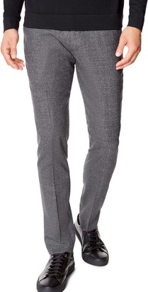 Good Man Brand Flexo Flat Front Flannel Wool Blend Dress Pants