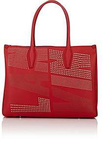 Lanvin Women's Medium Leather Shopper Tote Bag-Red