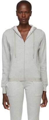 Calvin Klein Underwear (カルバン クライン アンダーウェア) - Calvin Klein Underwear グレー モノクローム ジップアップ フーディ
