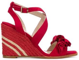 Paloma Barceló ruffle wedge sandals