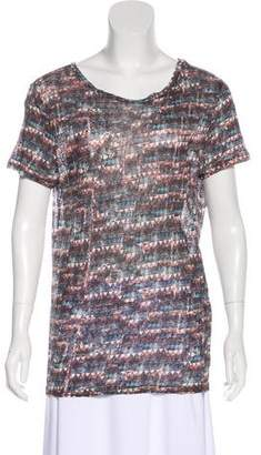 Etoile Isabel Marant Linen Printed T-Shirt