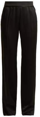 Haider Ackermann Kuiper Wide Leg Satin Trousers - Womens - Black