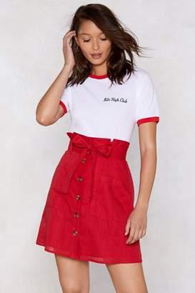 Nasty Gal Add to Bag Linen Skirt