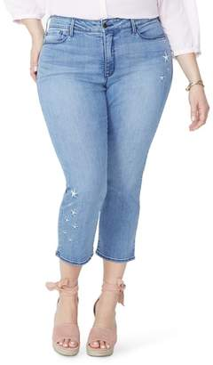NYDJ Marilyn Seastar Embroidered Ankle Skinny Jeans