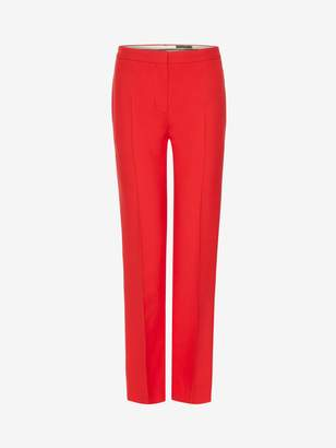 Alexander McQueen Wool Silk Cigarette Pants