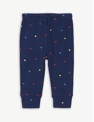Stella McCartney Heart print cotton trousers 6-36 months