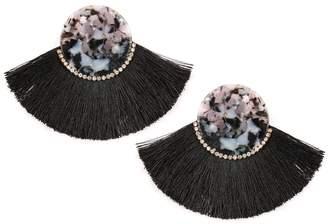 Riah Fashion Classic-Fan Tassel Earrings