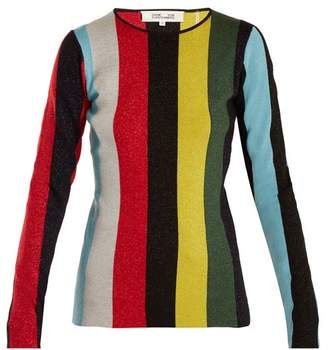 Diane von Furstenberg Striped Wool Blend Sweater - Womens - Multi