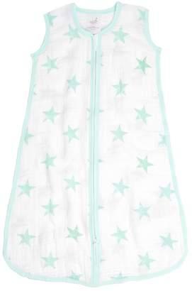 Aden Anais Aden By aden by aden + anais Green Stars Muslin Wearable Zip Blanket