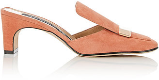 Women's Suede Square-Toe Mules
