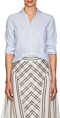 Barneys New York Women's Linen Shirt - Blue