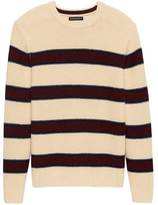 Banana Republic Italian Merino Blend Modern-Stripe Sweater