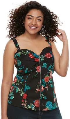 Juniors' Plus Size Liberty Love Floral Bustier Top