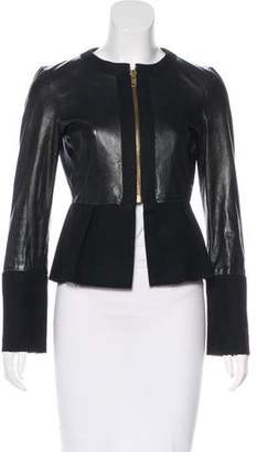 Marc by Marc Jacobs Wool-Accented Leather Jacket