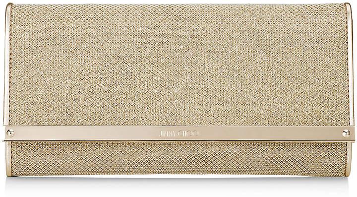 Jimmy ChooMILLA Gold Lamé Glitter Continental Wallet